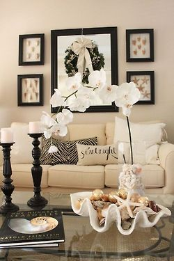 Beautifully decorated corner of a living-room