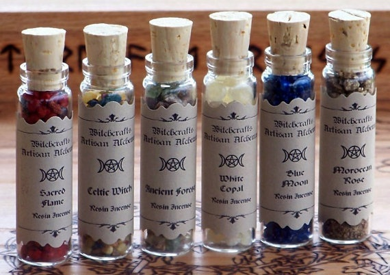 MYSTIC WITCH Altar Resins Collection - Sacred Flame, Celtic Witch, Ancient Forest, White Copal, Blue Moon, Moroccan Rose by ArtisanWitchcrafts, $20.95