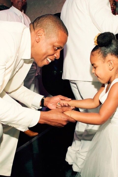 Beyoncé's ' Picture Of Husband Jay  and Daughter Blue Ivy Dancing At Her Mum's Wedding Is Too Cute