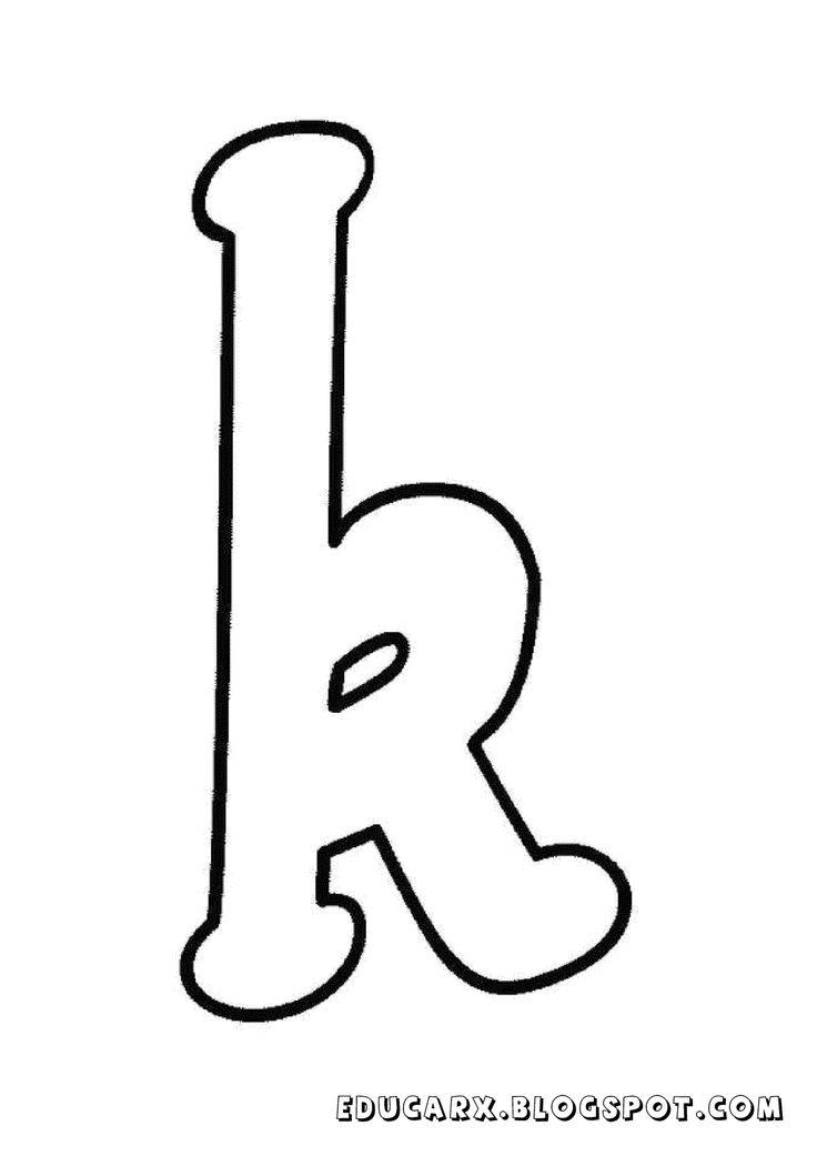 Molde da letra minuscula k Proyectos