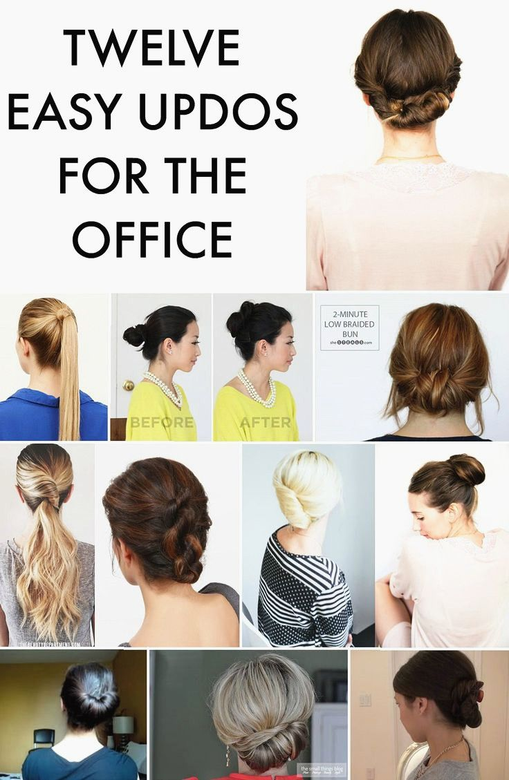 hair up styles for work best 25 easy professional hairstyles ideas on 1009 | 27e695cce8b77ad55bedd084c0880e19 easy professional hairstyles easy work hairstyles