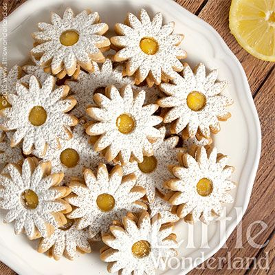 Galletas rellenas de lemon curd
