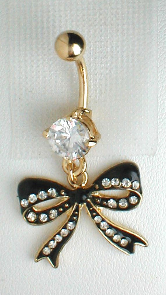 Unique Belly Ring Betsey Johnson Bow Pendant On by pondgazer2004, $10.95