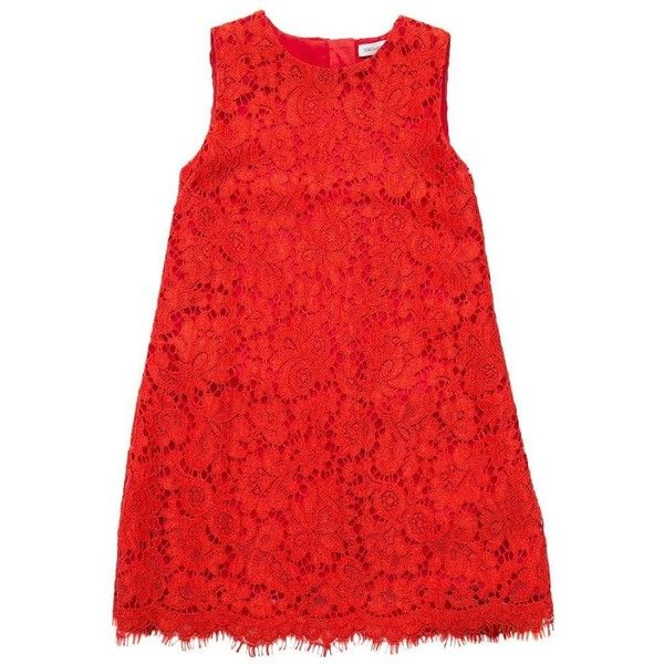 Dolce & Gabbana Macramé lace dress ($594) ❤ liked on Polyvore featuring dresses, red, sleeveless summer dresses, red dresses, red lace cocktail dress, j.crew cocktail dresses and summer cocktail dresses