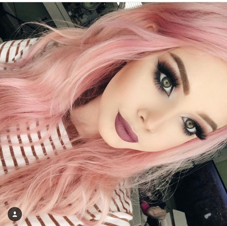Strawberry coloured hair