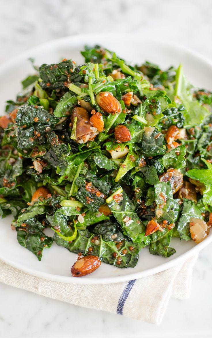 Kale & Quinoa Salad with Dates, Almonds & Citrus Dressing
