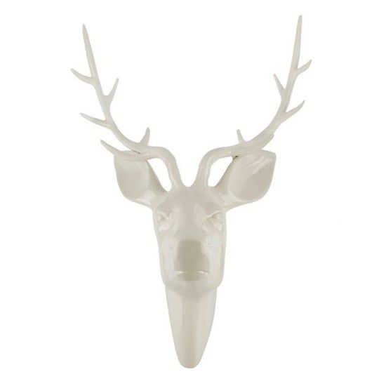 Ceramic white stag head by House of Fraser | Wall art - 10 of the best | housetohome.co.uk
