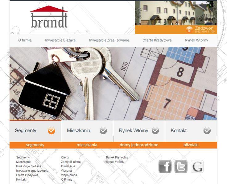 Strona internetowa wykonana dla developera nieruchomości BrandT.   http://nieruchomosci.net/development/