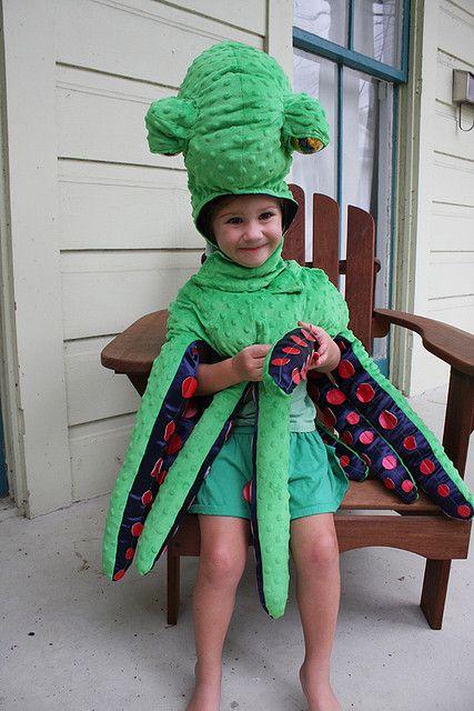 kids green octopus costume
