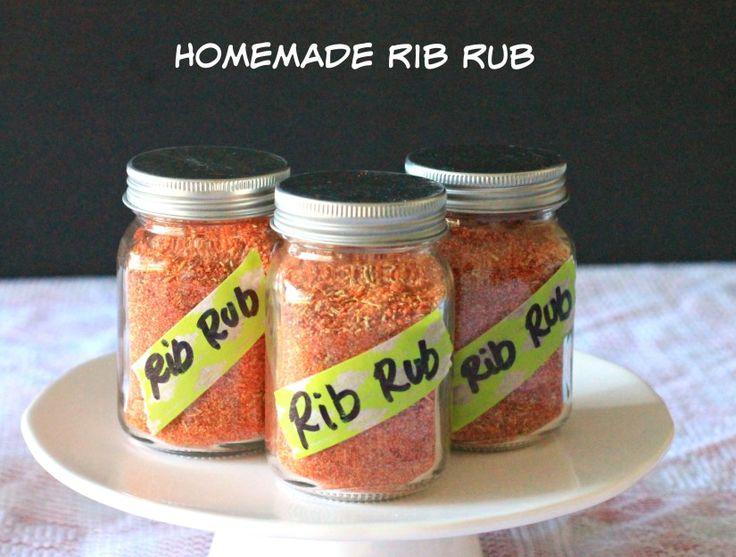 St. Louis Rib Rub ~~~ Ingredients ~ 1/4 cup paprika ~ 1 TBS cayenne ~ 2 TBS black pepper ~ 3 TBS garlic powder ~ 1 TBS onion powder ~ 3 TBS Kosher salt ~ 1 TBS dried oregano ~ 1 TBS dried thyme