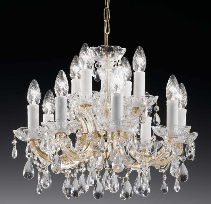 12 light glass and acrylic chandelier 64