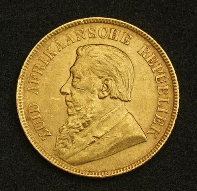 South African Krugerrand Gold Coin one Pond Kruger 1898