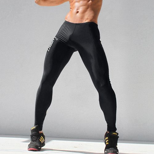 Men's Sexy Tight Pants Slim Fitted Casual Crossfit Sweatpants Elastic Active Men's Workout Pants