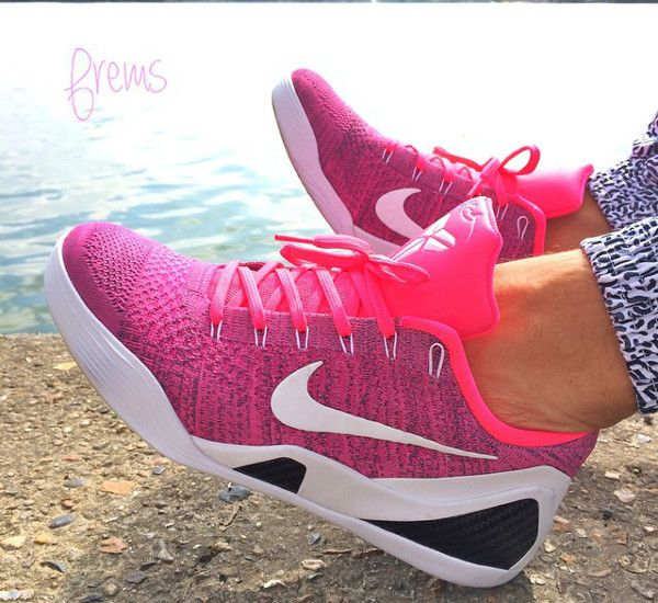 womens nike kobe 9 low pink green