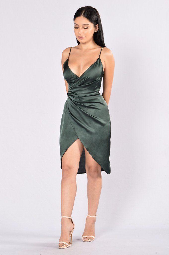 Show Off Dress - Olive