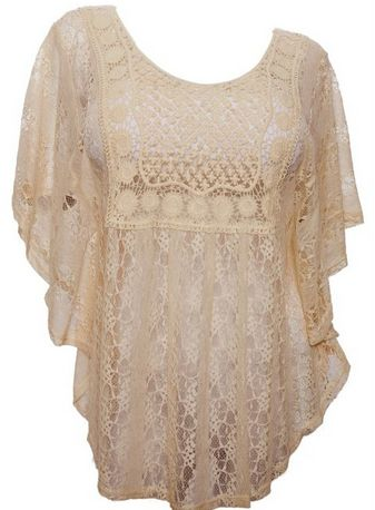 plus size lace poncho top, comes in 1x-3x and lot sof colors to pick from PLUS SIZED FASHION DEALS ~ PLUS SIZE TRENDY JEANS UNDER $15, CARDIGAN AND MORE