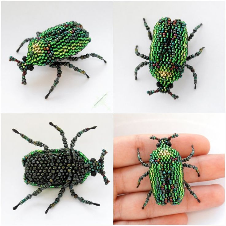 Green beetle by Rrkra/ dragon tutorials