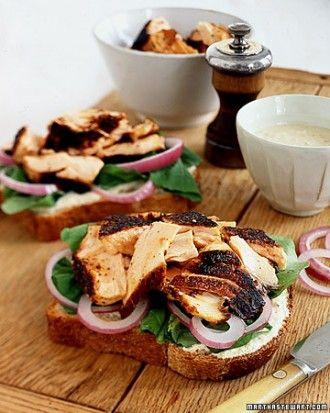 Tea Sandwiches Martha Stewart | Blackened Salmon Sandwiches