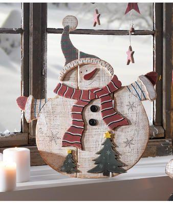 Angela Bruderer Bonhomme de neige en bois