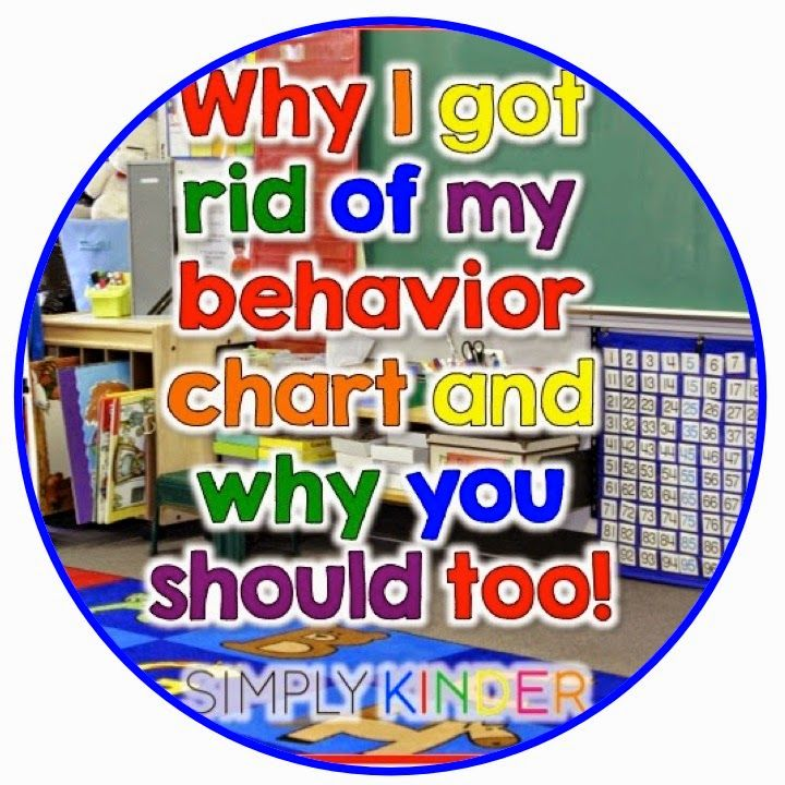Why I Took My Behavior Clip Chart Off My Wall and why you should too!  Join the conversation at Simply Kinder!  Ideas for creating a positive classroom environment and more!   #SimplyKinder  Great for Kindergarten!