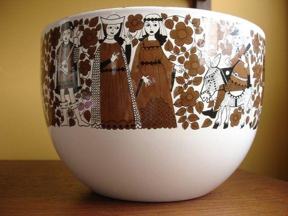 Arabia Finel vintage enamel bowl