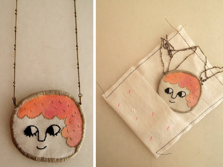 Adorable embroidered necklace by lana Pelana