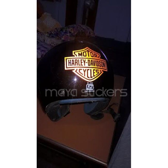 harley davidson logo sticker on helmet | car and bike stickers