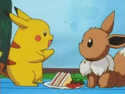 cute, eevee, pikachu, sandwiches, vulpix - inspiring picture on Favim.com