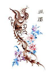 5 stuks phoenix waterproof tijdelijke tatoeage (17,5 cm * 10cm)