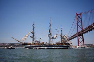 The Italian ship Amerigo Vespucci