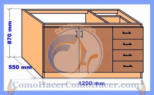 M s de 1000 ideas sobre gabinetes de cocina de madera en Planos de gabinetes de cocina gratis