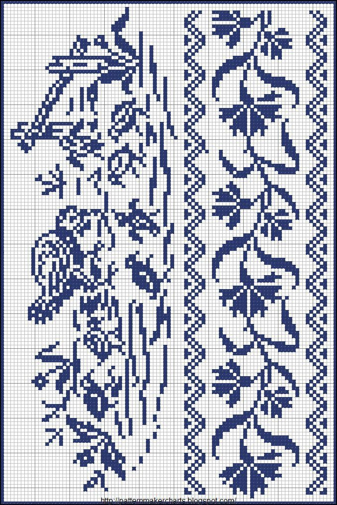 Free Easy Cross, Pattern Maker, PCStitch Charts + Free Historic Old Pattern Books: Sajou No 657:
