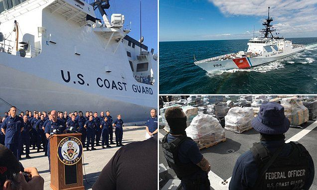 Coast Guard brings in a haul of 16 tons of seized cocaine | Daily Mail Online