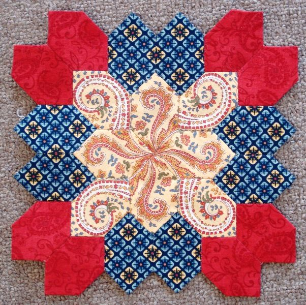 Block 23 by Muriel for the Lucy Boston POTC Blog Along at Little Quilts