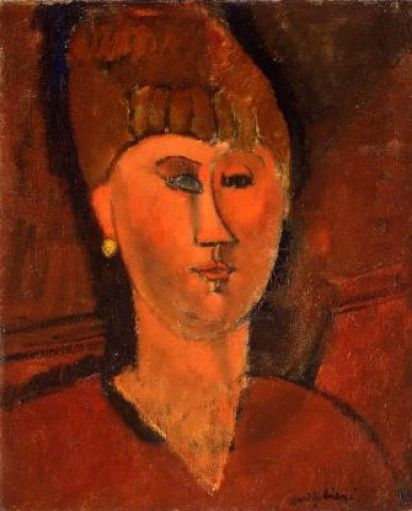 Amedeo Modigliani - La ragazza rossa (Testa di donna dai capelli rossi)