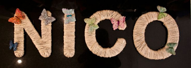 Letters Home made - Nico Boutique