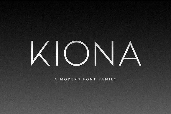 (NEW) KIONA - A Modern Sans Serif by Ellen Luff on @creativemarket