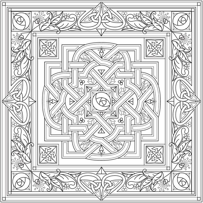 From: Creative Haven Deluxe Edition Celtic Nature Coloring Book Welcome to Dover Publications