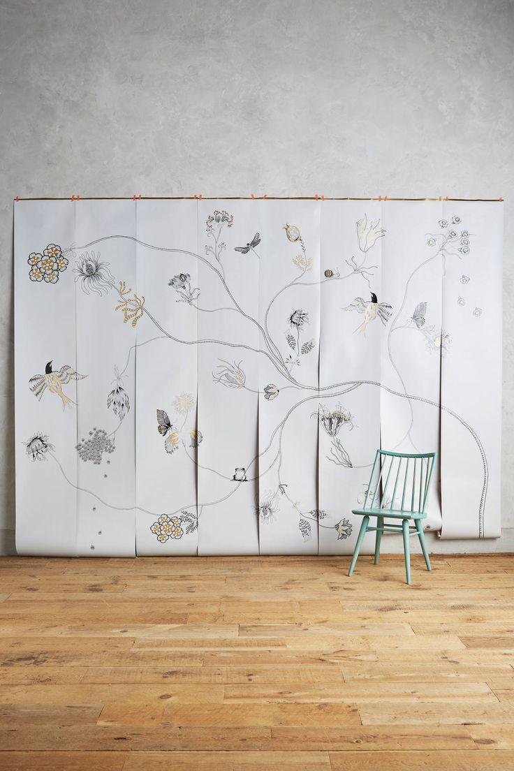 Piet hein eek scrapwood wallpaper modern wallpaper los angeles - Harmony Branch Mural Home Wallpaperdining