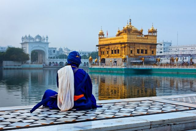 Beautiful in blue - Amritsar Golden Temple in north #India