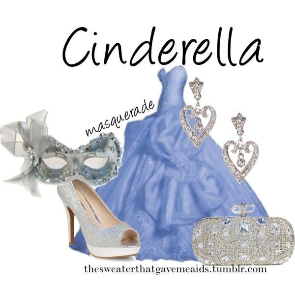 Cinderella Masquerade by khriseus on Polyvore featuring Masquerade, Dorothy Perkins, Marchesa and Disney