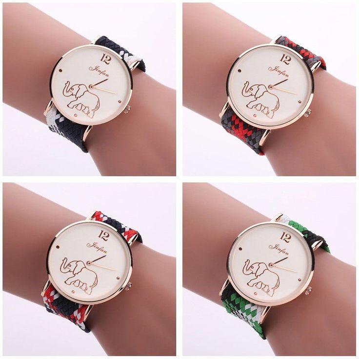 Braided Exotic Quartz Wristwatch Women Fabric Strap Quartz Wrist Watches Dp
