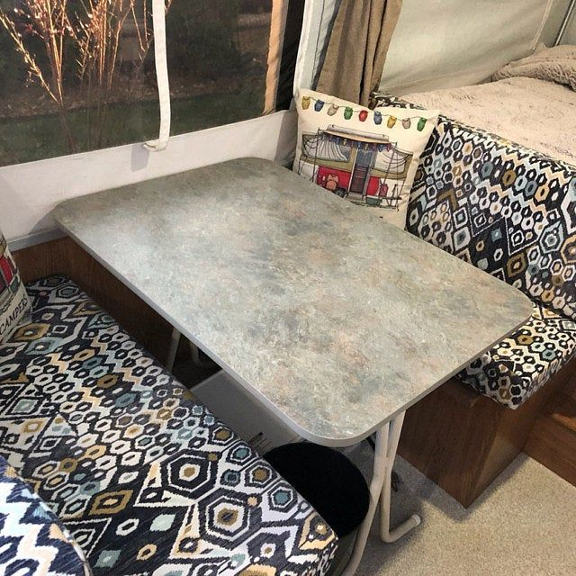New Set Of 4 Dinette Cushion Covers For Rvs Camper Trailers Fabric Included 100 Choices In 2020 Dinette Cushion Covers Camper Table