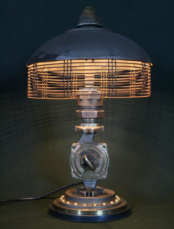 What Will Be Created When Scrap Meets Found Art? Artist Cory Barkman Has  Given Us A Pretty Good Answer: A Bunch Of Steampunk Styled Found Art Lamps.