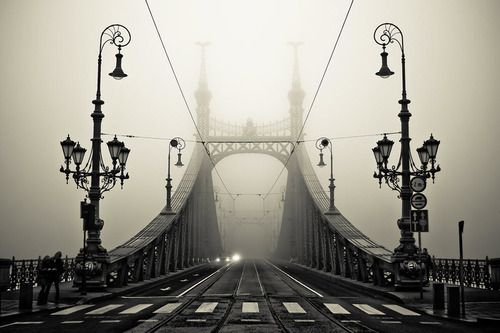 Fog, Budapest, Hungary  photo via besttravelphotos