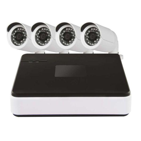 Accesorii tv si satelit SISTEM 4 CAMERE VIDEO IP 720P + NVR H5601 EMOS.H5601