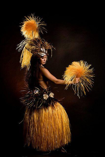 Hula Girl, Hawaiian Islands RPPC Real Photo vintage