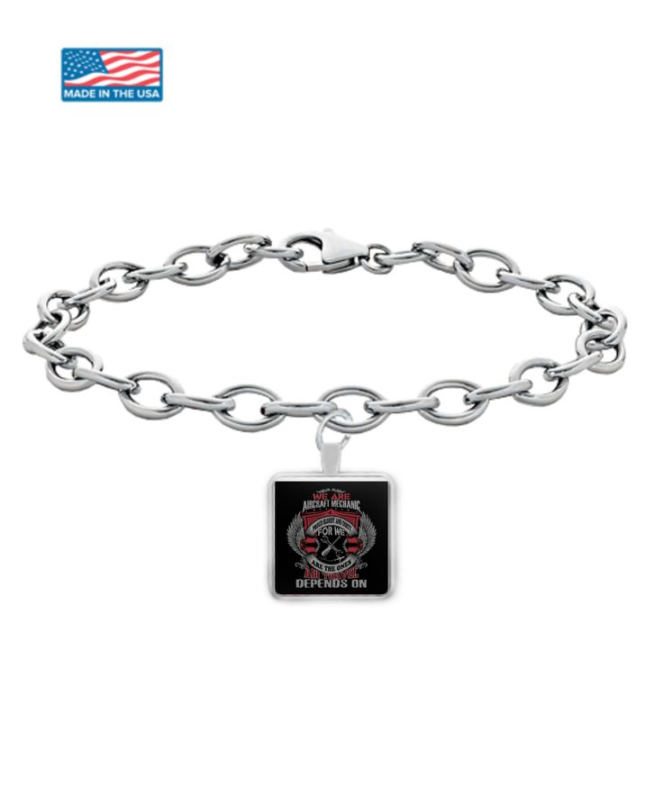 * JUST RELEASED * $17.95 Aircraft Mechanic Silver Bracelet Limited Time Only This item is NOT available in stores.  Guaranteed safe checkout: PAYPAL | VISA | MASTERCARD  Click BUY IT NOW To Order Yours! (Printed, Made, And Shipped From The USA)