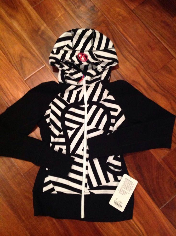 Lululemon Scuba Hoodie II Special Edition Seawheeze Zebra Zig Zag Size 6 | eBay