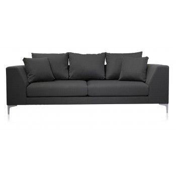 Benito 3 Seater Fabric Contemporary Sofa Grey $690.00